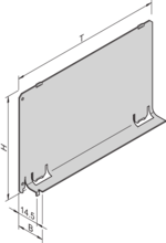 Air baffle without front panel (RatiopacPRO/-air, PropacPRO, CompacPRO, EuropacPRO)