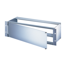 Front Panel, front andodized and rear passivated, shielded (textile), side hinged assembly