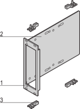 """CompactPCI Module to mount drive unit, with front panel, U profile, shielded 1× 3 1/2"""", 3 U vertical"""