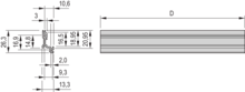 Corner profile (without side plate)