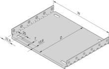 Mounting plate in combination with cover plate (EuropacPRO)