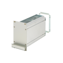 Frame type plug in unit kit, unshielded, with perforations, rear cutout for multiple connectors 3/6 U