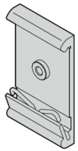 Clip for horizontal rail mounting