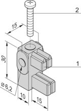 Mounting Bracket with Insulating Block for Busbar 1, 2 Poles