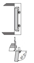 Subrack Front-handle 97.5 degree frontview