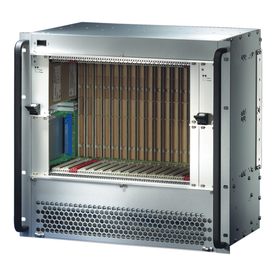 """CompactPCI Subrack system with PSB backplane, 6 U with Rear I/O for 19"""" power supply"""