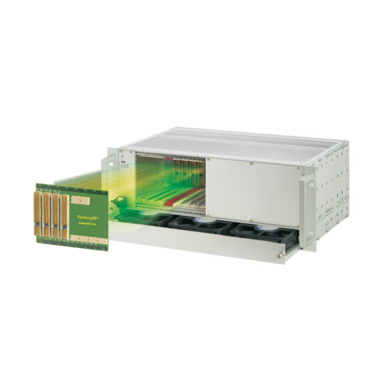 """CompactPCI PlusIO 4 U, 8slot, with rear I/O, with 19""""-compatible power supply"""