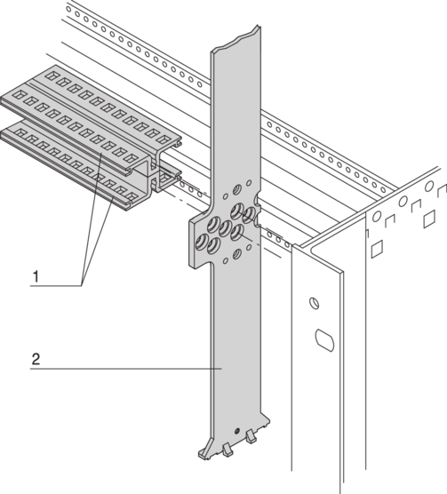 Splitting extrusion 6 U for combined mounting