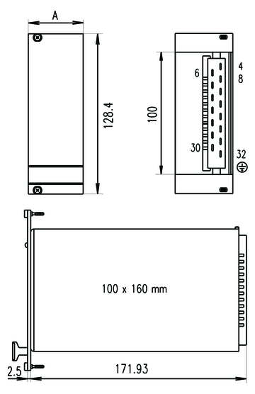 PSU Drawing for Front Panel