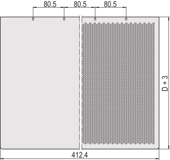 Top cover/base plate, perforated