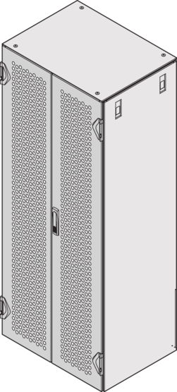 Double door IP 20, perforated (Varistar), RAL 7021/RAL 7035