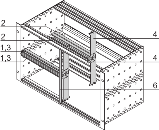 Combined mounting, vertical/horizontal board support (EuropacPRO, RatiopacPRO, PropacPRO, CompacPRO)