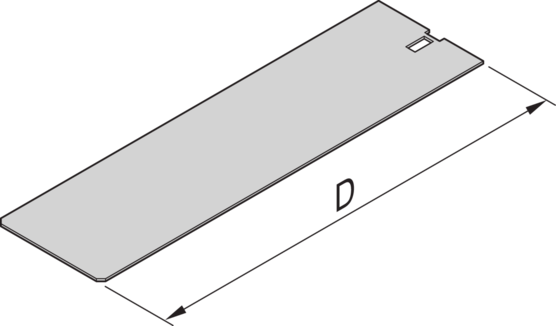 Cover Plate, without perforation