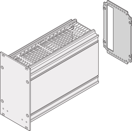 Rear Panel, with cut-out for one connector