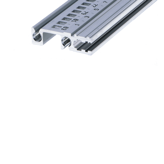 """Horizontal rail, rear, type H-VT, """"heavy"""", recessed installation (EuropacPRO/-rugged)"""