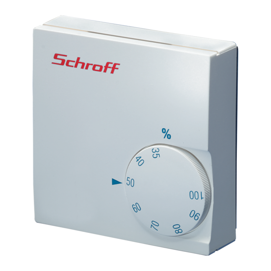 Hygrostat, adjustable or fixed relative air humidity