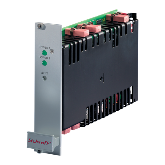 """19"""" DC/DC converters, Coolpower 100 W, dual"""