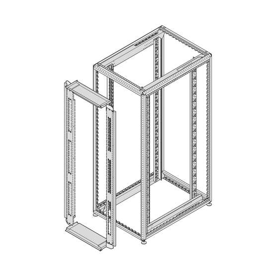 Air separation cover, front panel kit, for 800 mm cabinet width, with cable ducting