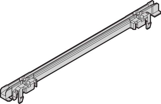 Guide rails, one-piece, for plug-in units and frame type plug-in units